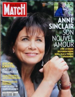 PARIS MATCH [No 3310] du 25/10/2012 - ANNE SINCLAIR - SON NOUVEL AMOUR AVEC L'HISTORIEN NORA - SYLVIA KRISTEL EST MORT - MARIAGE ROYAL AU LUXEMBOURG - ECONOMIE DU PARTAGE - L'ART DE VIVRE AU TEMPS DE LA CRISE