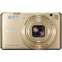Nikon Coolpix S7000 Digitalkamera (16 Megapixel, 20-fach opt. Zoom, 7,6 cm (3 Zoll) LCD-Display, USB 2.0, bildstabilisiert) gold
