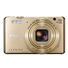 Nikon COOLPIX S7000 Compact Digital Camera - Gold (16.0 MP, CMOS Sensor, 20x Zoom) 3.0 -Inch LCD