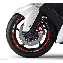 STRISCE ADESIVE CERCHI compatibili x scooter YAMAHA TMAX 2008-2016 anniversario