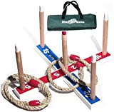 Elite Anneau Toss jeu pour enfants et adultes - Pour l'intérieur ou à l'extérieur avec sac de transport compact pour un rangement facile .