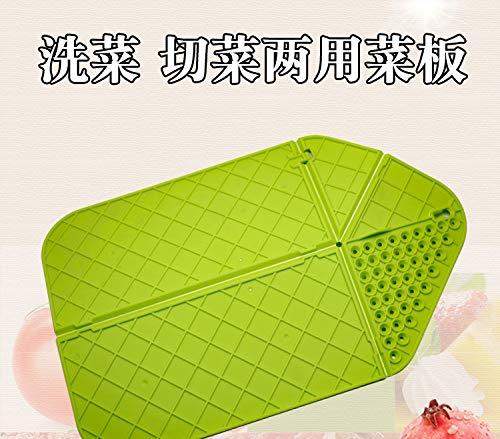 Kakiyi Faltbare Chopping Block Kunststoff Multifunktions tragbare Anti-Rutsch-Schneidebrett Kochen im Freien Werkzeug Chopping Block