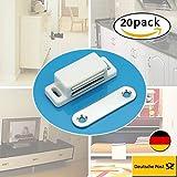 EMOTREE 20x Tür Schrank Magnetschnäpper Kommode Kühlschrank Schublade Möbel Verschluss