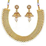 Deal of the Day – Buy Sukkhi Wedding Collection Jewellery Set for Women (Golden) at Price 288.00