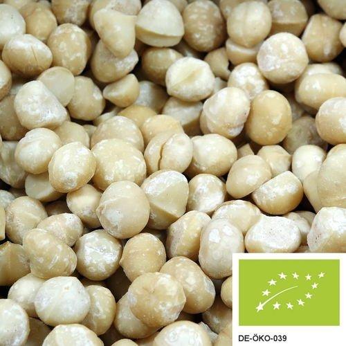 Preisvergleich Produktbild 1kg Ganze Bio Macadamianüsse der Klasse 1L,  versandkostenfrei (in D),  Macadamia Nüsse Bio ungesalzen und ohne Schale