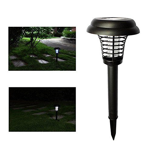 mmtop 2017 jardín césped Solar Powered LED Luz anti-Mosquito Pest Bug Zapper insectos Killer lámpara