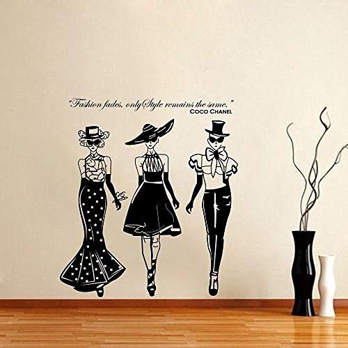 adesivo-da-parete-in-vinile-da-donna-coco-chanel-fashionfor-salotto