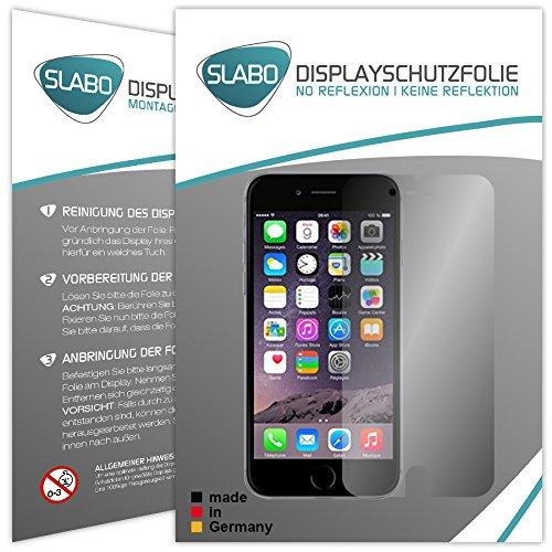 """4 x Slabo Film de protection d'écran compatible avec iPhone 6 6S (4.7"""") protection écran film (la taille des films est réduite en raison d'un écran bombé) """"No Reflexion"""" MAT - anti-reflets MADE IN GERMANY"""