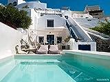 druck-shop24 Wunschmotiv: Villa Avec Piscine à Santorin
