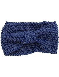 Sanwood Damen Häkelarbeit Schleife Design Stirnband Winter Kopfband Haarband