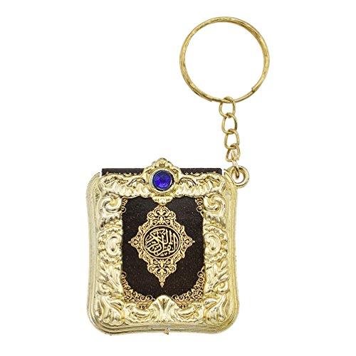 Kesheng Schlüsselanhänger Schlüsselring Koran Buch Kunstleder Papier Moslem Geschenk MEHRWEG