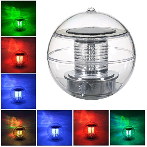 StillCool Poolbeleuchtung Floating Pool Light Solar Lampe LED Solar Wasserdicht Schwimmende Pool Licht Unterwasser Farbwechsel RGB Ball Lampe für den Garten, Baum,Teich Swimming Pool
