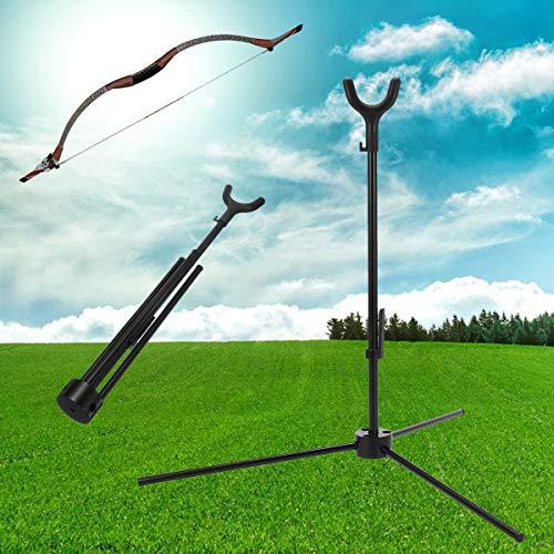 RanDal Bogenschießen Recurve Bow Tripod Stand Zusammenklappbare Tragbare Bogenhalter Rack