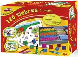 Joustra - 41460 - Kit de Loisir Créatif - 120 Timbres à Colorier