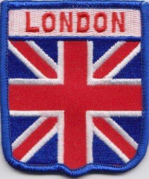 London Union Jack Bandiera logo ricamato (A390)