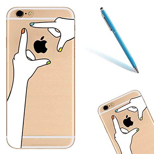 Silicone TPU Cover Coque pour Apple iPhone 6/6S (4.7 Pouces),CLTPY Ultra Mince Super Léger Créatif Cartoon Dessin Motif Séries Étui Case pour iPhone 6/6S,Anti-Rayures Transparente Souple Gel Bumper Pr Main