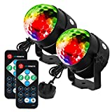 Litake Disco Ball Disco Lights,Remote Control DJ Lights 3W 7 Colours Strobe Light