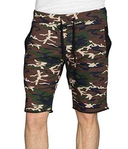 Coast betterStylz king pantalon de jogging-short-short bermuda fitness couleurs contrastées (en allemand) - Wood Camo