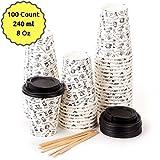 Best Bicchieri di tè - 100 Bicchieri Carta per Prendere il Caffè – Review