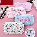 obiqngwi Étui à crayons Flamingo Zipper Cartoon Stylo sac Papeterie d'étudiant...