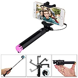 Aart Monopod selfie stick button on the Handle for Smart Clicks Apple & Android Devices