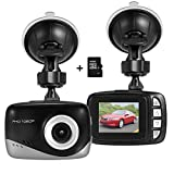 Foxcesd W1688 Mini Dash Cam with 16GB SD Card, Full HD 1080P Dash Camera for Cars with 140⁰ Wide Angle, G-sensor, Loop Recording, Motion Detection, Parking Monitor