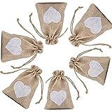 CozofLuv sac cadeau de bonbons | 25 pcs jute pochette baptême sac de mariage lumières de noël pour lavande bonbons cadeaux ca