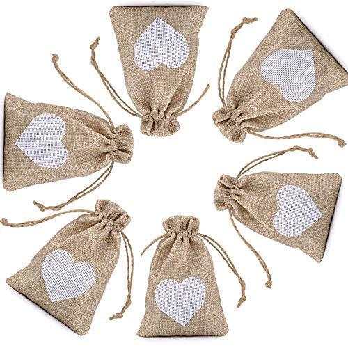 CozofLuv Süßigkeiten Geschenktüte| 25 Stücke Säckchen Hochzeit Taufe Wihnachten für Lavendel Süßigkeiten Geschenke Geschenkbeutel Zum befüllen Schmuckbeutel Klein (braun mit weiß)