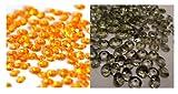 Lot de 4000 confettis diamants pour décoration de table - Assortiment Orange/Gris - 4.5mm