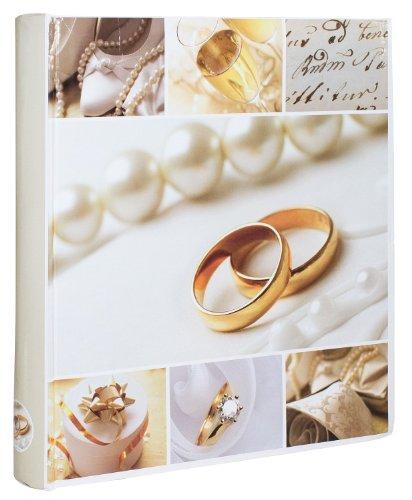 Idena 540929 - Jumbo Boda Álbum de fotos 50 blancos Páginas, Motivo: Anillos de boda