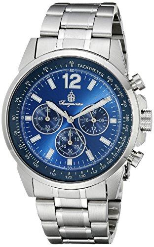 Burgmeister Armbanduhr für Herren mit Analog-Anzeige, Quarz-Uhr mit Edelstahl Armband - Wasserdichte Herrenarmbanduhr mit zeitlosem, schickem Design - klassische Uhr für Männer - BM608-131 Washington