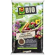 COMPO BIO Horn- und Knochenmehl, reiner Naturdünger zur organischen Düngung, geeignet für den ökologischen Landbau, 2,5 kg