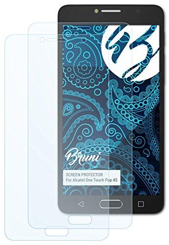 Bruni Alcatel One Touch Pop 4S Folie - 2 x glasklare Displayschutzfolie...