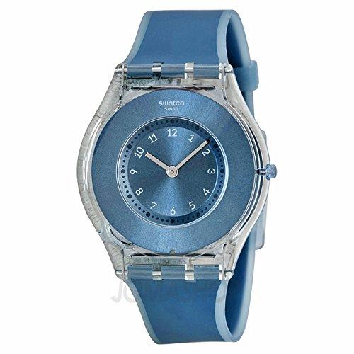 Swatch SReloj buceo en Azul Dial Azul silicona Damas Reloj SFS103