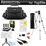 Essential Accessories Kit For Fuji Fujifilm Finepix S8200 S8300 S8400 S8500 S8600 S9200 S9400W S9800 S9900W Camera Includes 4 AA Rechargeable NIMH Batteries + Charger + Case + 50 Tripod + More