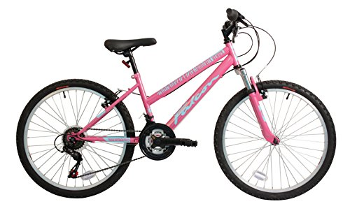 Falcon Venus 24 Inch Girls Front Suspension Mountain Bike 18 Speed Gears Pink-