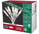 Konstsmide 6300-123 LED Minilichterkette/für Innen (IP20) 230V Innen/One String/mit Schalter / 10 warm weiße Dioden/transparentes Kabel
