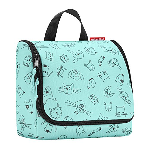 Reisenthel, Toiletbag Cats And Dogs, Kulturtasche, 23 cm, Mint