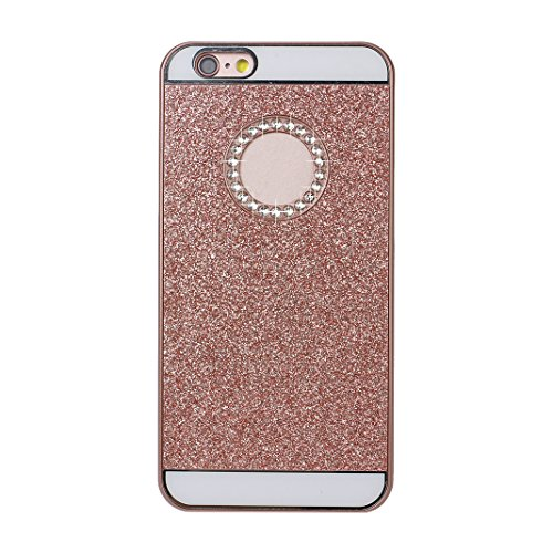 2PCS Etui iPhone 6S Plus Coque Violet Plastique Dure de PC Case, iPhone 6 Plus Housse, Moon mood® Glitter Bling Telephone Portable Retour Housse Plastic PC Back Bumper Case Cover Ultra Mince Slim Thin Or rose