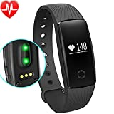 Orologio Fitness, Willful Activity Tracker Cardiofrequenzimetro da Polso Smartband Cardio Braccialetto Bracciale Fitness Tracker Smart Watch Bluetooth Smartwatch Pedometro per Donna Uomo Bambini per iPhone Samsung Huawei Sony Android iOS Smartphone ( Contapassi, Calorie, Distanza, Sonno, Notifiche, Corsa, Allarme)