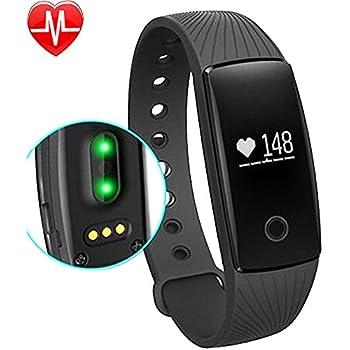 Willful Pulsómetro de pulsera podómetro Bluetooth Pulsera Fitness ...