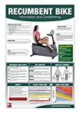 Recumbent Bike Poster/Chart; Recumbent Bike Poster - Exercise Bike - Stationary Cycle - Laid Back Bike Poster - Stationary Bike Chart - Workout Poster - Cardio Cachine Poster - Cardio Bike Poster