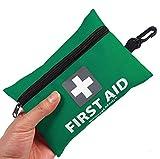 General Medi Mini-Erste-Hilfe-Kit, 92 Stück kleine Erste-Hilfe-Kit - enthält Emergency Foil Blanket, CPR Gesichtsmaske, Schere für Reisen, Haus, Büro, Fahrzeug, Camping, Arbeitsplatz & Outdoor (Grÿn)