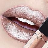 CICIYONER Damen Metall Lippenstift Lip Gloss Liquid Lippe Kosmetik, 24 Farben (16 #)