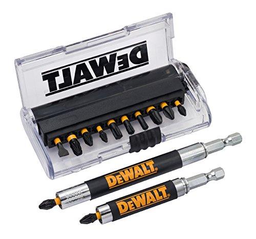Dewalt DT70512T-QZ Juego de 14 Piezas para atornillar con 2 guías guía telescópica magnética Larga...