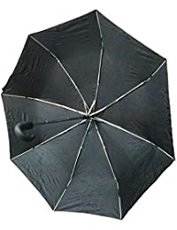 J GO 3 Fold Automatic Open And Close UV Protective Umbrella With Cover (color May Vary)