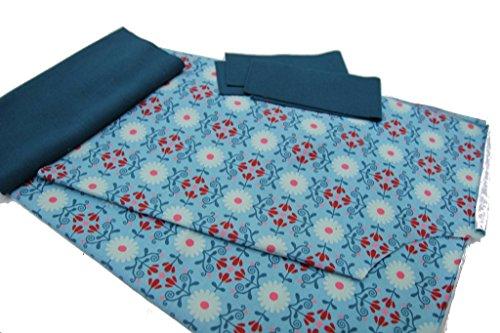 DIY Kit de couture Pantalon 3/4d'été Floral sur Menthe avec manuel Schwarz