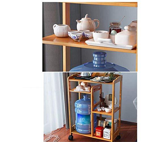 MDD Regal, Regale aus Holz Rollwagen und Schubladenregal Platzsparend und einfach zu installieren,EIN - Stauraum-insel