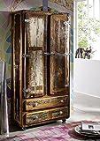 Legno antico massiccio Mobili laccato stile industriale Armadio Legno massello Ferro Mobili in legno massello Freezy #39