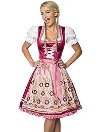 Bayerntracht Dirndl m rosa braun Damen Landhaus Oktoberfest Schürze Bluse